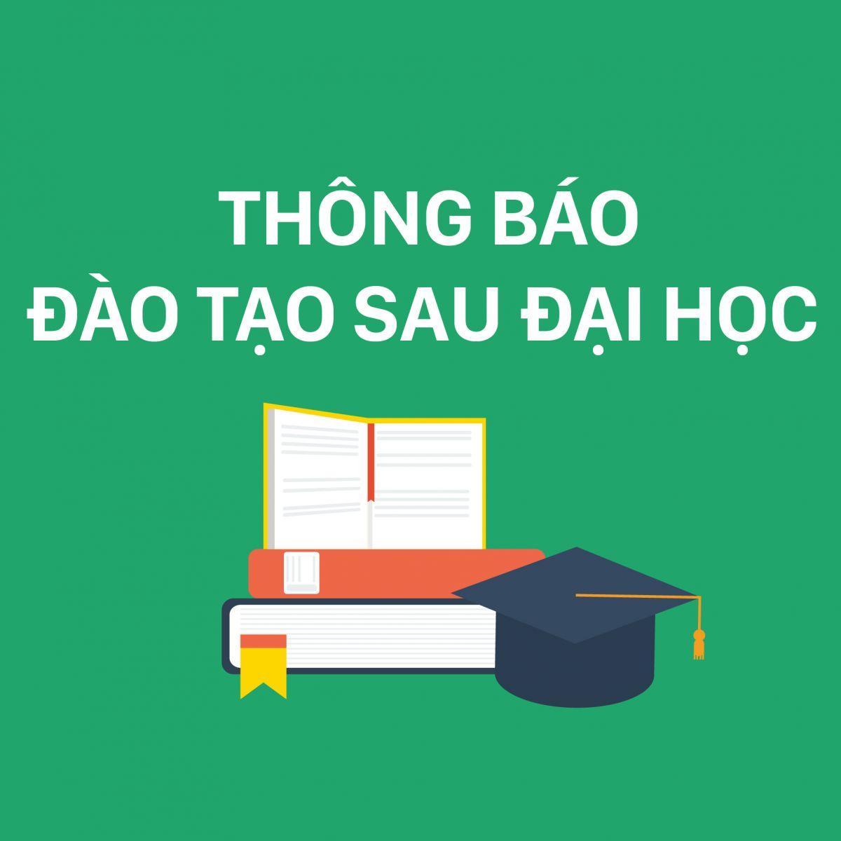 Thông báo Tuyển sinh trình độ Thạc sĩ ngành Quản lý Tài nguyên và Môi trường Đợt 2 năm 2020